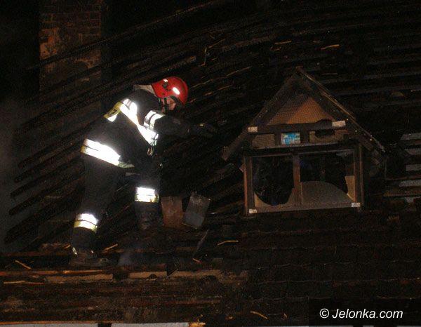 JELENIA GÓRA: Po nocnym pożarze spłonął opuszczony dom