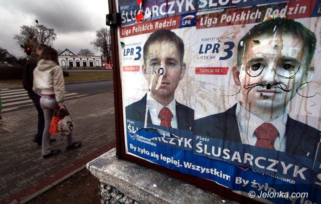 JELENIA GÓRA: Powyborcze podchody plakatowe