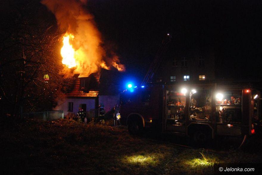 JELENIA GÓRA: Pożar przy hipermarkecie