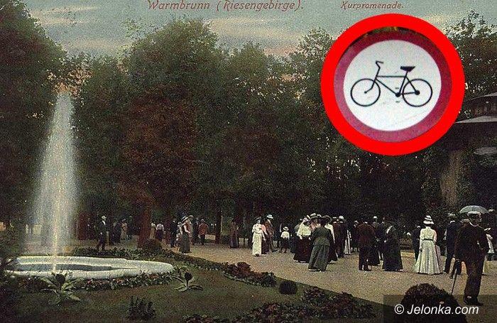 JELENIA GÓRA: Park Zdrojowy nie dla rowerów