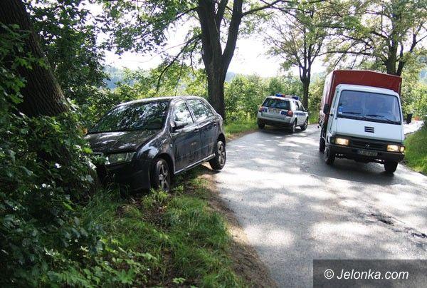 REGION: Czeszka rozbiła auto na drzewie