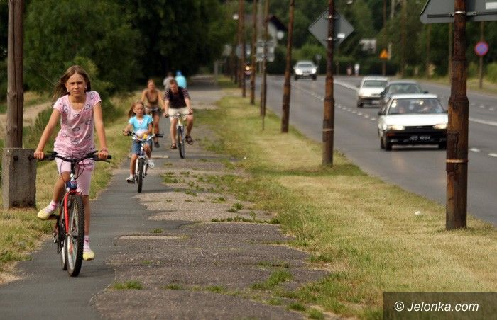 JELENIA GÓRA: Są pieniądze na drogę rowerową do Cieplic