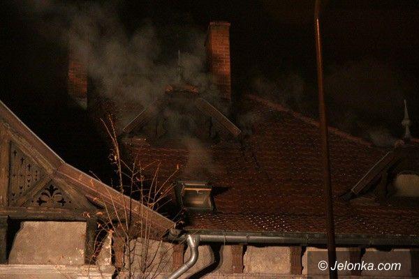 JELENIA GÓRA: Ogień przy al. Wojska Polskiego