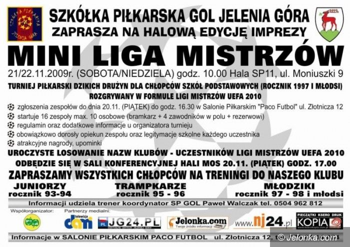 Jelenia Góra: Mini Liga Mistrzów dla uczniów szkół podstawowych