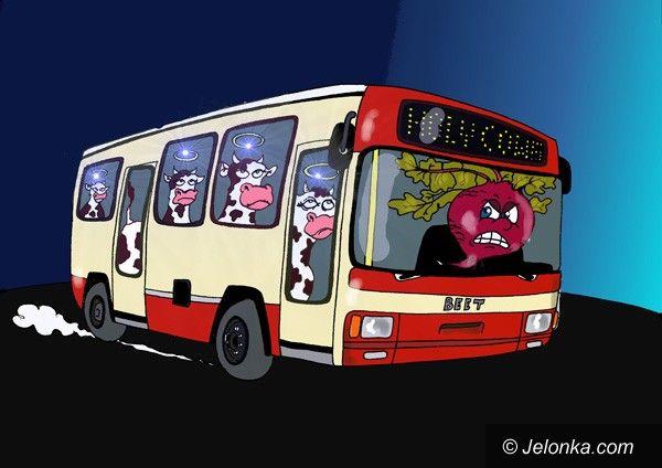 JELENIA GÓRA: Trzymajcie się mocno w autobusach....
