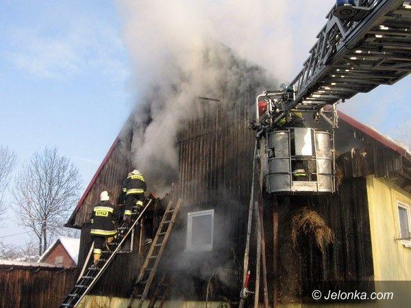 REGION: Spłonęło poddasze w Kopańcu