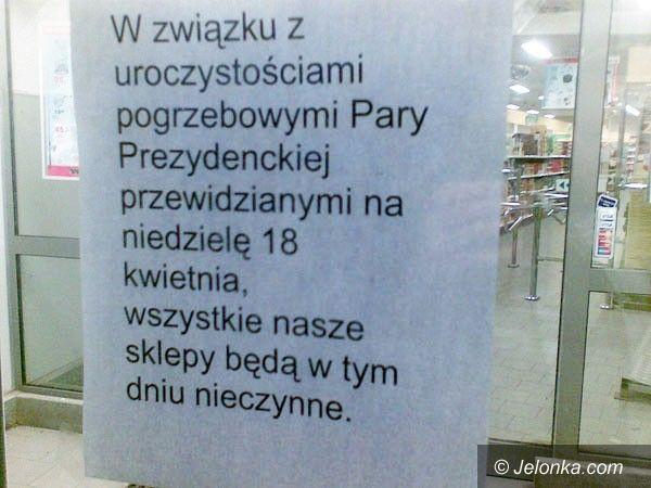 JELENIA GÓRA REGION: W niedzielę duże sklepy zamknięte