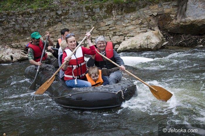 Bory Dolnośląskie: Spływ pontonowy na Kwisie