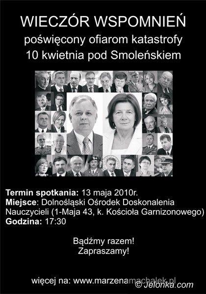 JELENIA GÓRA: Wspomną ofiary katastrofy pod Smoleńskiem