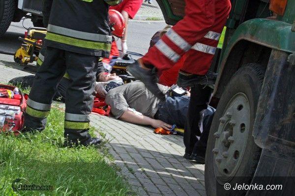 JELENIA GÓRA: Bardzo groźny wypadek (pozorowany)