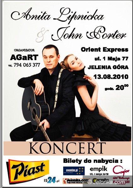 "JELENIA GÓRA: John Porter i Anita Lipnicka w ""Orient Expressie"""