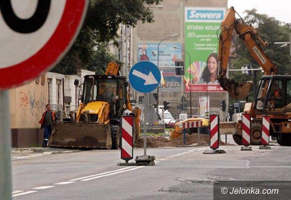 JELENIA GÓRA: Rozkopana ulica 1 Maja