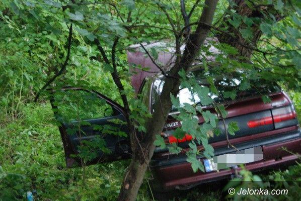 JELENIA GÓRA: Renówką w drzewo przy ul. Rataja