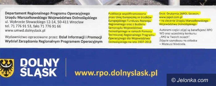 """DOLNY ŚLĄSK: """"Pogoda na rozwój"""" Dolnego Śląska w Szczecinie drukowana"""