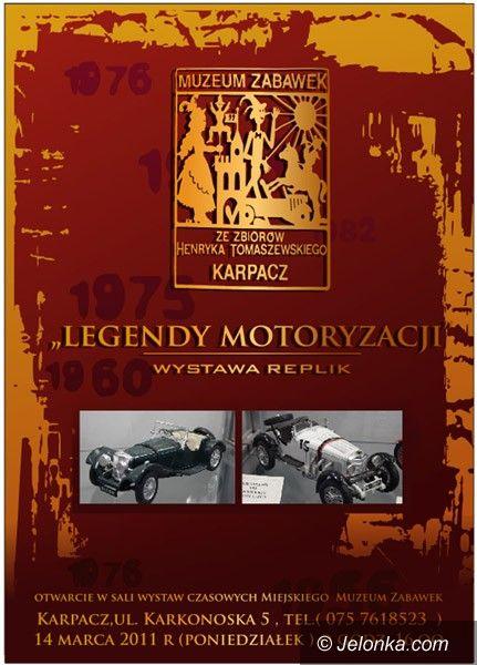 KARPACZ: Legendy motoryzacji modelami ilustrowane