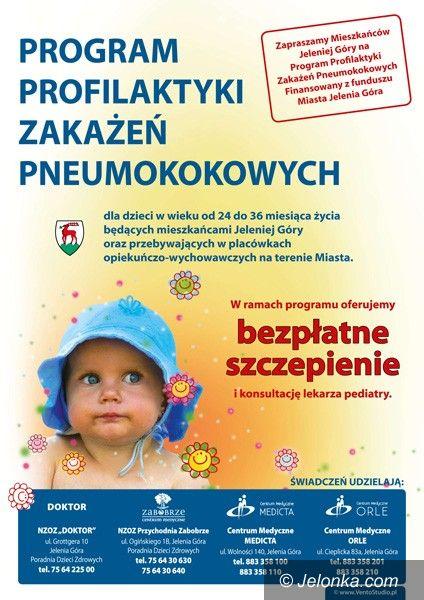 JELENIA GÓRA: Zaszczep dziecko przeciwko pneumokokom!