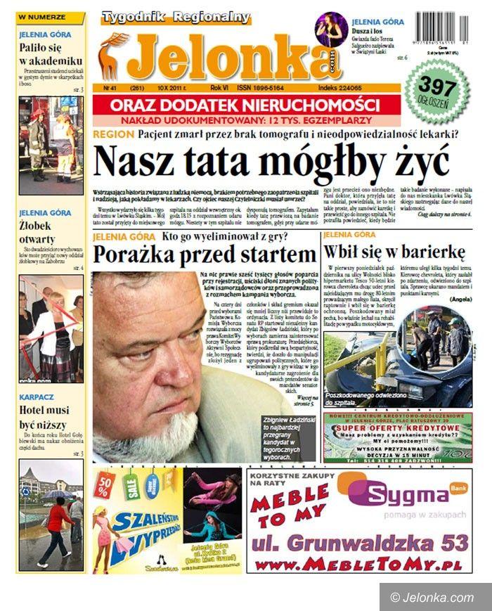 JELENIA GÓRA: Tygodnik Jelonka.com od poniedziałku bezpłatnie