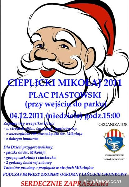 JELENIA GÓRA: Jutro św. Mikołaj przyjedzie na plac Piastowski