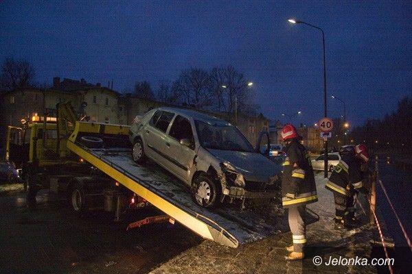 REGION JELENIOGÓRSKI: Groźna kraksa. Renault w rzece