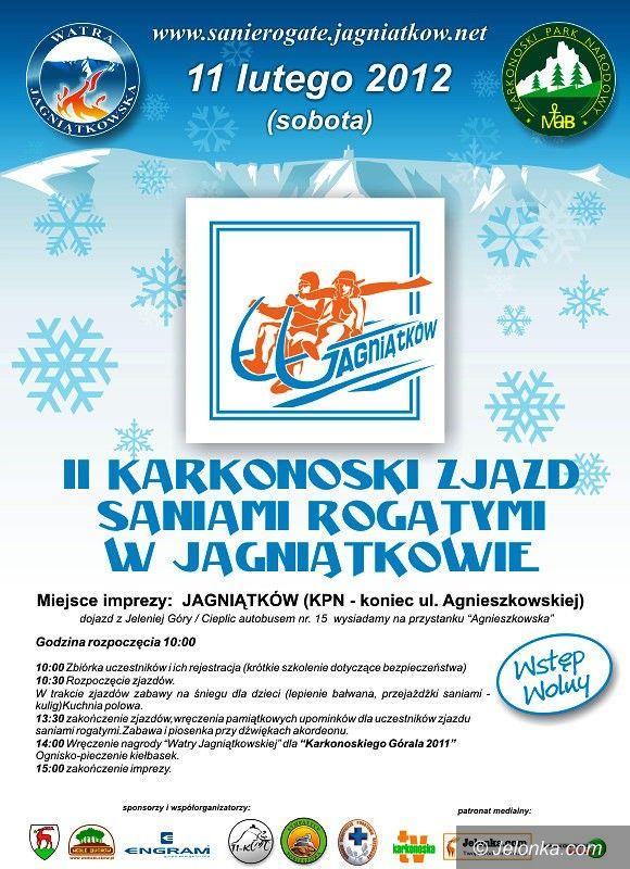 JELENIA GÓRA: Zjazd Saniami Rogatymi w Jagniątkowie