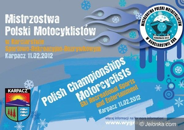 KARPACZ: Rozrywkowe zmagania motocyklistów z urokami zimy