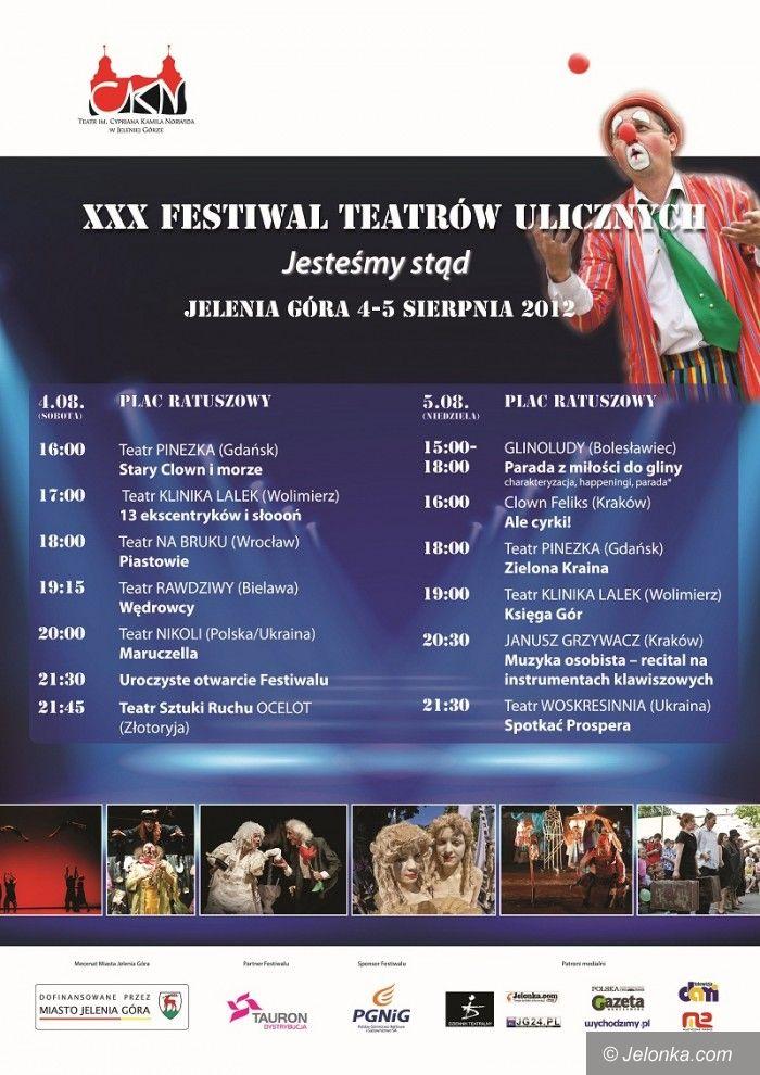 Jelenia Góra: Trzydziesty Festiwal Teatrów Ulicznych na początku sierpnia