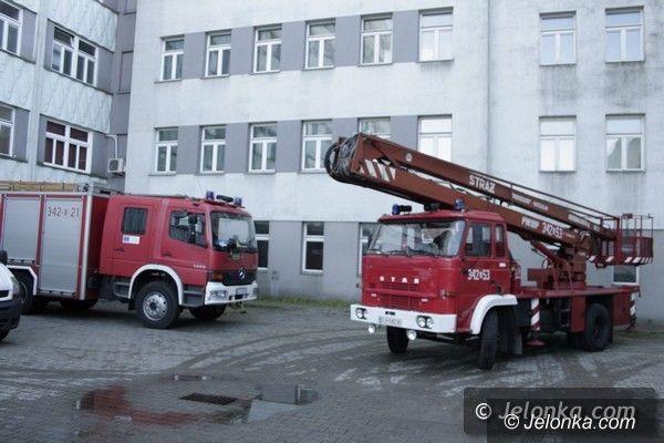 Jelenia Góra: Pożar w jeleniogórskim szpitalu, dwie osoby uwięzione. To tylko ćwiczenia