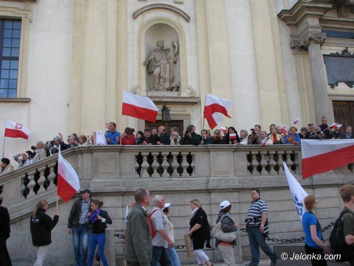 Warszawa: Jeleniogórzanie licznie uczestniczyli w marszu Obudź się Polsko
