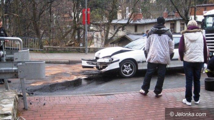 Karpacz: Uderzył w barierę przez prędkość