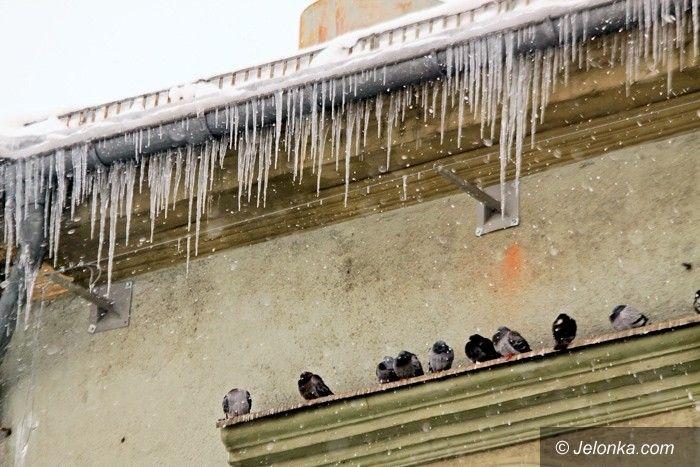 Jelenia Góra: Sople na dachu, śnieg na chodnikach – kto ma to usuwać?