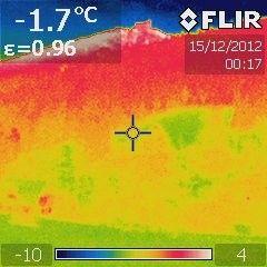 Region: Inwersja temperatur w Karkonoszach okiem kamery termowizyjnej