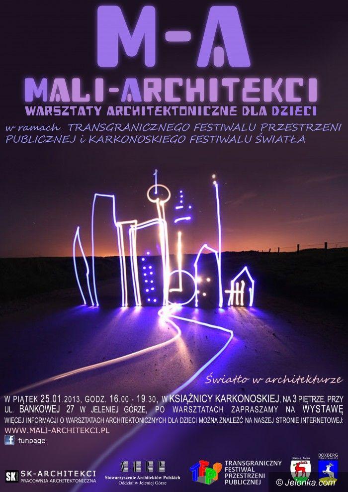 Jelenia Góra: Światło dla małych architektów – warsztaty dla dzieci