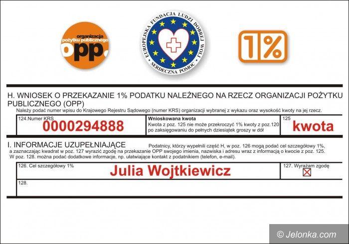 Jelenia Góra: Malutka Julia potrzebuje pomocy! Przekaż jej 1 proc. podatku