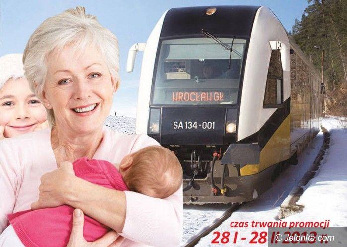 Region: Juniorzy i seniorzy w lutym zapłacą mniej za pociąg