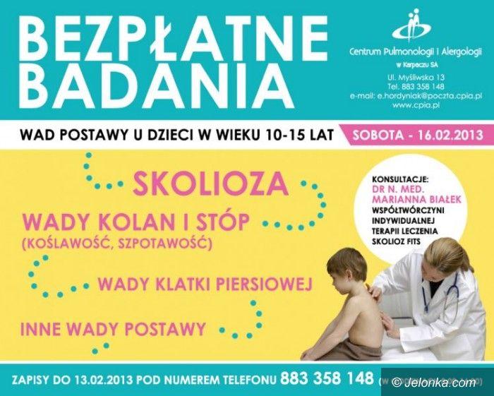 Region: Bezpłatne badania wad postawy u dzieci w Karpaczu