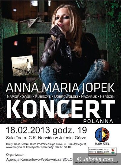 Jelenia Góra: Anna Maria Jopek zaśpiewa w Jeleniej Górze