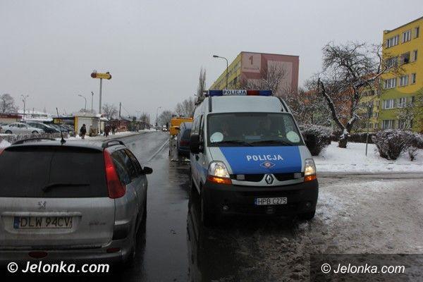Jelenia Góra: Potrącenie pieszej na Zabobrzu (FOTO)