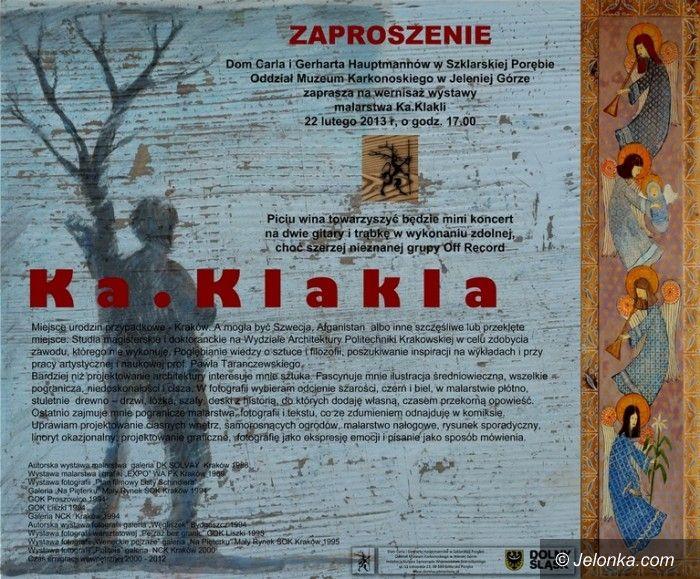 Region: Dzisiaj wernisaż wystawy malarstwa Ka. Klakli z mini koncertem