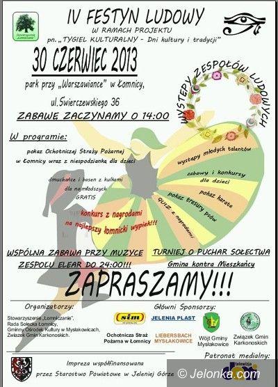 Region: Będzie Festyn Ludowy w Łomnicy
