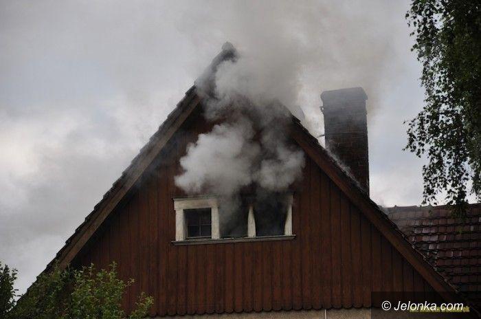 Jelenia Góra: Pożar domu na Prusa