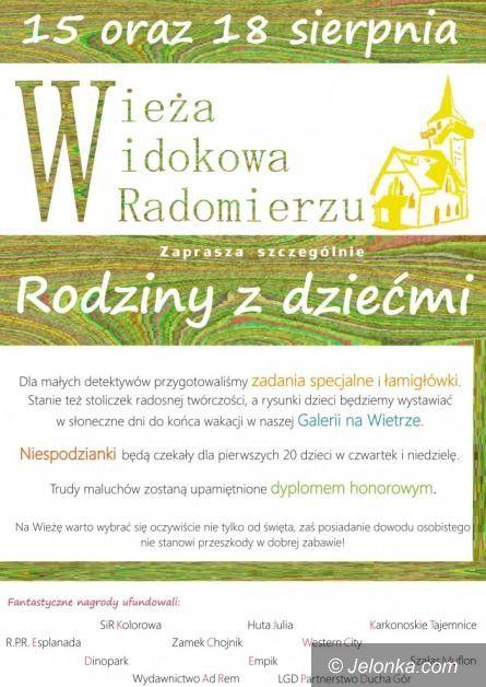 Region: Moc atrakcji dla dzieci w radomierskiej wieży