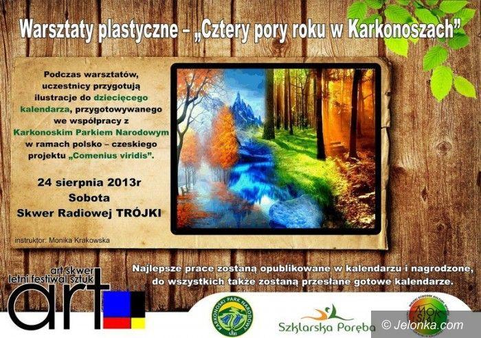 """Szklarska Poręba: Warsztaty plastyczne """"Cztery pory roku w Karkonoszach"""""""
