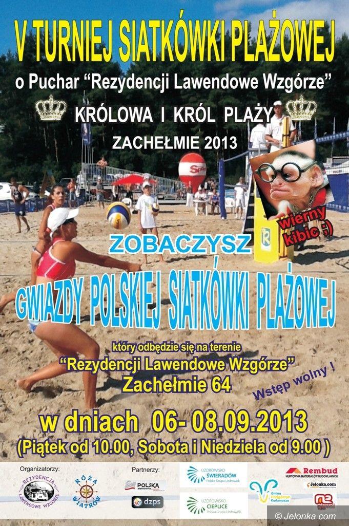 Zachełmie: Turniej siatkówki plażowej w Zachełmiu
