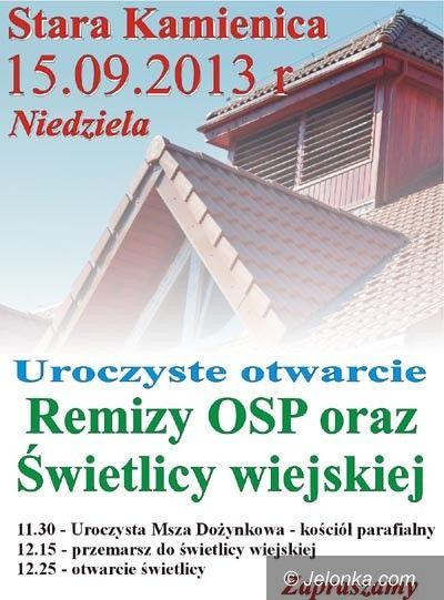 Region: Otwarcie remizy i świetlicy w Starej Kamienicy
