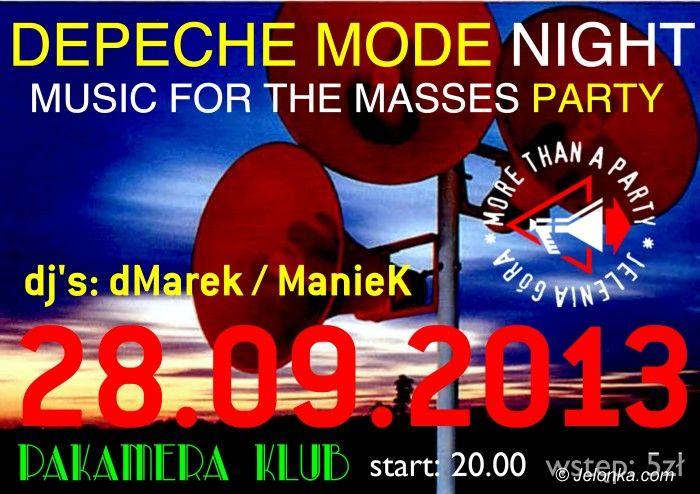 Jelenia Góra: Do Pakamery wraca po wakacjach Depeche Mode Night