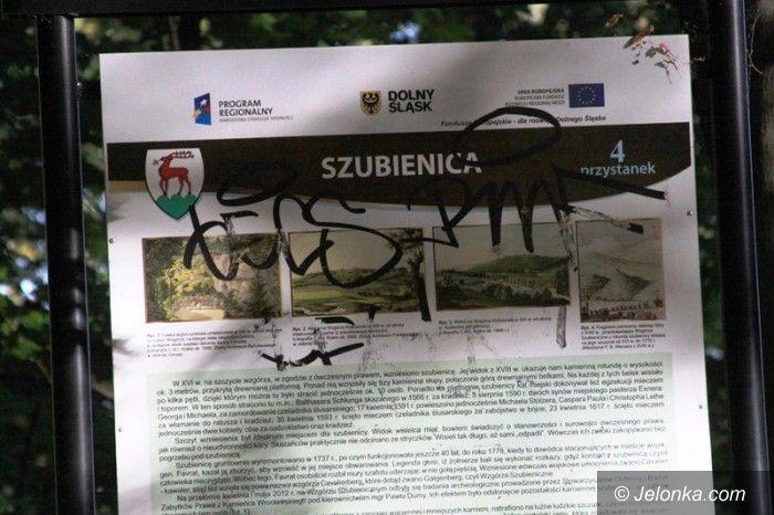 Jelenia Góra: Wandale niszczą Wzgórze Kościuszki