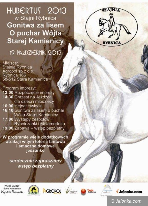 Region: W sobotę Hubertus 2013 w Stajni Rybnica