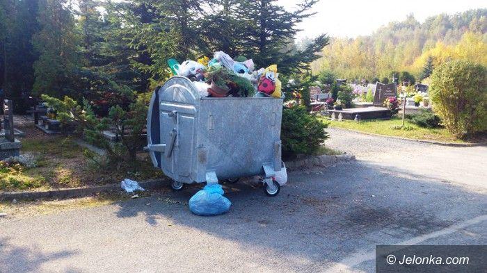 Jelenia Góra: MPGK: Segregacja odpadów na cmentarzach nie ma sensu