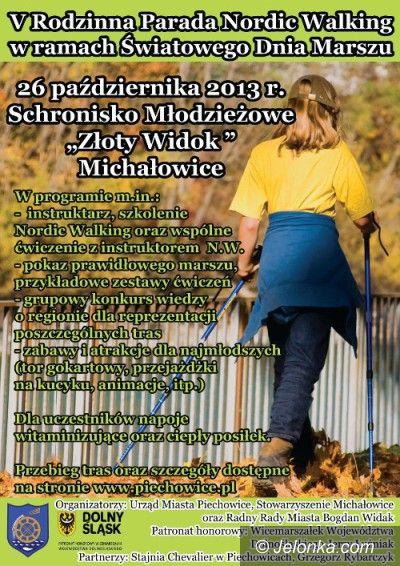 Michałowice: Parada z kijkami w Michałowicach