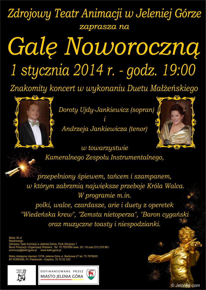 Jelenia Góra: Gala noworoczna w Teatrze Zdrojowym